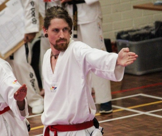 Luke Crane Shows His Focus During His Successful Black Belt Grading 2018 - www.tkdcentral.com