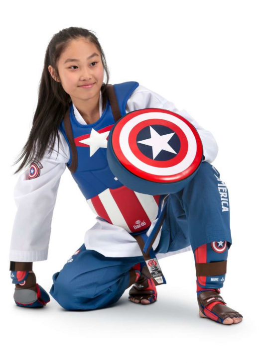 Marvel - Daedo Taekwondo Safety Gear - Captain America