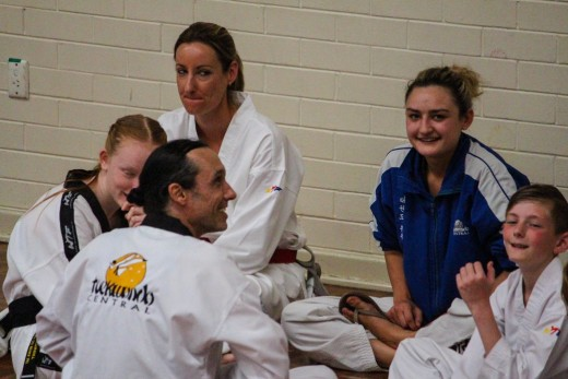 Master Justin Warren & Head Instructor Ajana Plunkett Relax With The Taekwondo Central Team - www.tkdcentral.com