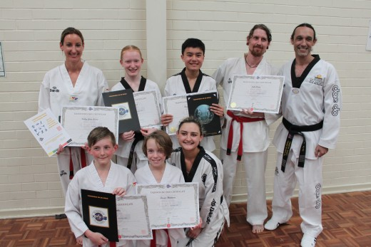 Taekwondo Central Grading Team November 2018 - Kelly Rowe, Trinity Best,
