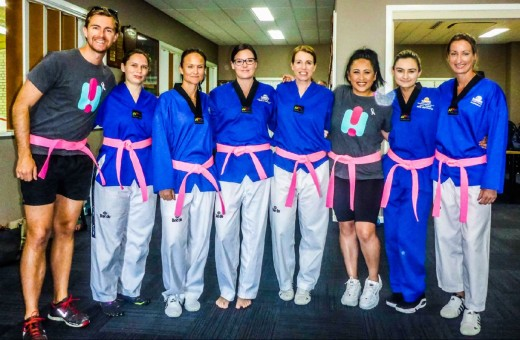 Taekwondo Central Ladies Supporting Pink Belt Scholarships - www.tkdcentral.com