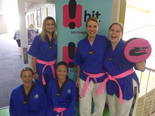 The Taekwondo Central Ladies Supporting The Pink Belt Scholarship - www.tkdcentral.com