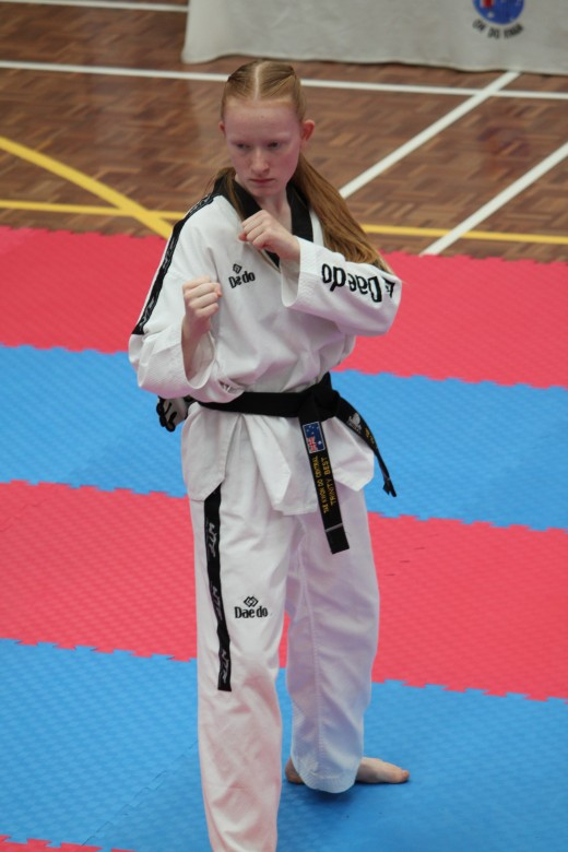 Trinity Best - Focused During Her 2nd Dan Black Belt Grading 2018 - www.tkdcentral.com